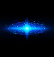 bright blue of galaxy for design vector image