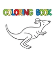 Coloring book of little funny kangaroo vector image