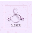 Eight March international womens day background vector image
