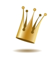 Falling gold crown vector image