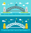 Flat design Sydney harbour bridge vector image
