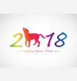 labrador dog 2018 new year card vector image