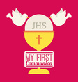 my first communion design vector image