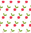 Seamless pattern with radish vector image