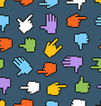 Pixel hand cursors seamless pattern vector image vector image