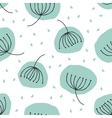 cute mint dandelion seamless pattern vector image