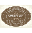 Sample Classic label vector image vector image
