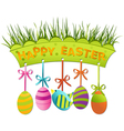 Easter board vector image vector image