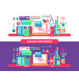 online university design flat vector image