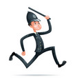 policeman run security protection order law 3d vector image