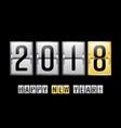 happy new year 2018 scoreboard counter vector image