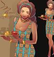 waitress5 vector image