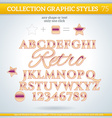 Retro Graphic Styles for Design use for decor text vector image