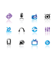 Perfect icons for media and sound vector image vector image