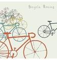 Colored bikes vector image