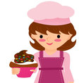 cupcake pastry vector image