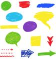 felt tip pen scribbles set vector image