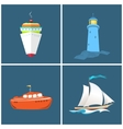 Front View of a Ship Lighthouse vector image