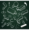 Hand drawing arrow collection doodle vector image