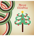 happy merry tree christmas character vector image