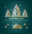 new year 2018 green banners vector image