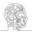 one continuous line artificial intelligence vector image