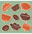 Set of retro speech bubbles vector image