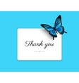 Thank you blank card vector image
