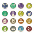 fuel and power icon set vector image
