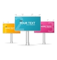 billboards screen template for text vector image