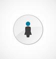 female profile icon 2 colored vector image