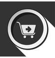 icon - shopping cart next with shadow vector image