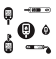 Diabetes Glucometer Icons 08 A vector image