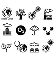 World ozone day ecology climate change icons vector image