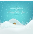 Christmas New Year card winter landscape vector image