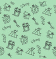 hunting concept icons pattern vector image
