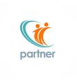 partner logo vector image