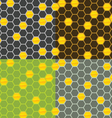 Seamless honey comb pattern vector image