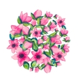 Spring watercolor with colorful flowers of sacura vector image