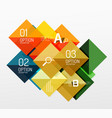 square infographic banner vector image