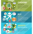 Vacation summer travel infographic Booking Fly vector image