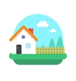 Village home on nature vector image