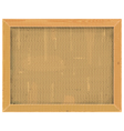 Wooden Frame with Sackcloth vector image