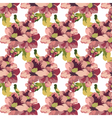 Vintage Watercolor geranium flowers pattern vector image