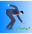 Money under your feet business concept vector image