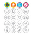 communication icon smartphone laptop and chat vector image