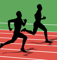 Running silhouettes vector image