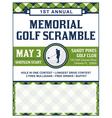 Golf Flyer Tournament vector image