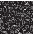 Coffee seamless background pattern vector image