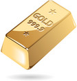Isometric icon of gold bar vector image